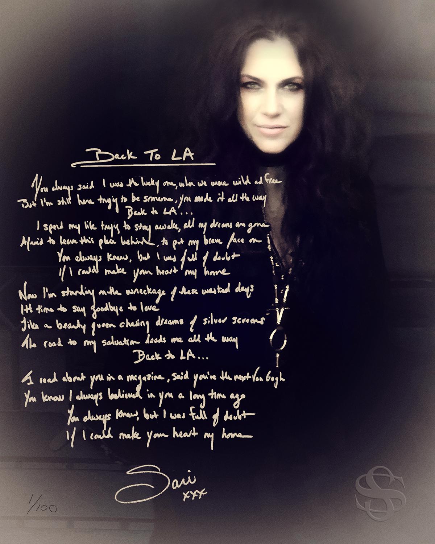 Sari Schorr Fine Art Signed Lyric - Back to LA